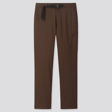 MEN HEATTECH WARM-LINED PANTS (ONLINE EXCLUSIVE), BROWN, medium