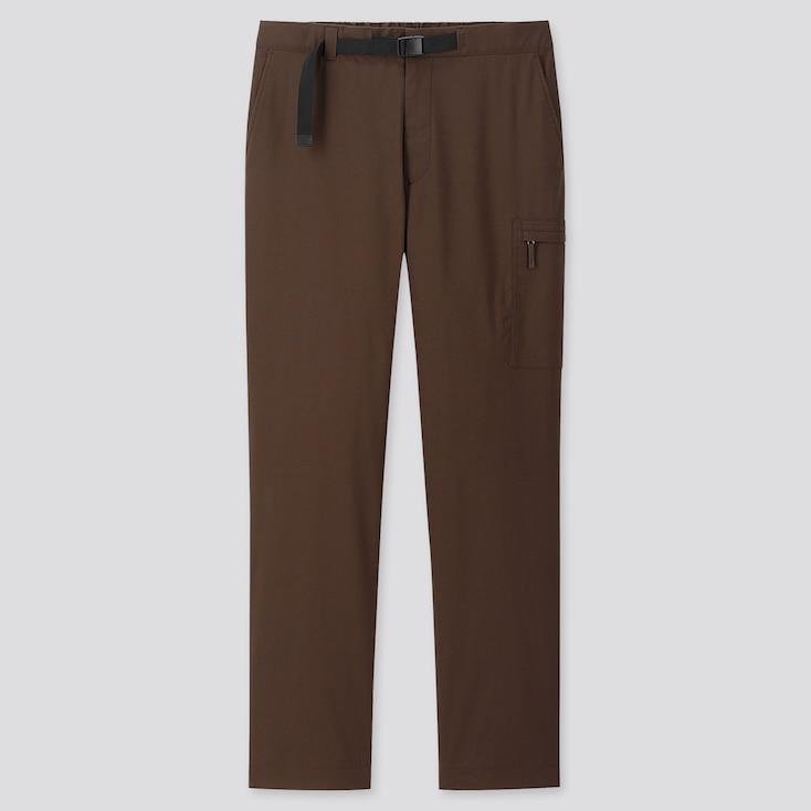 MEN HEATTECH WARM-LINED PANTS (ONLINE EXCLUSIVE), BROWN, large
