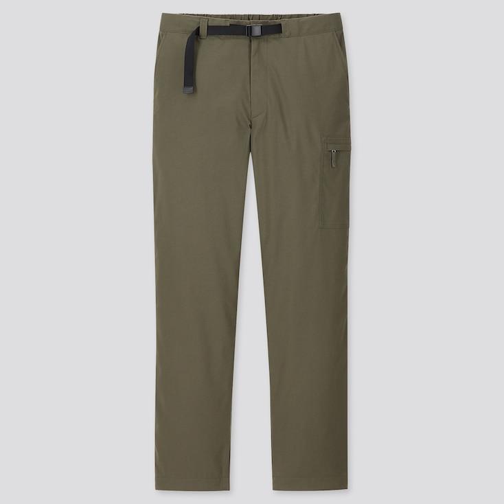 MEN HEATTECH WARM-LINED PANTS (ONLINE EXCLUSIVE), DARK GREEN, large
