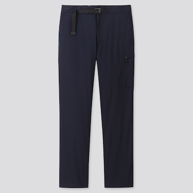 MEN HEATTECH WARM-LINED PANTS (ONLINE EXCLUSIVE), NAVY, medium