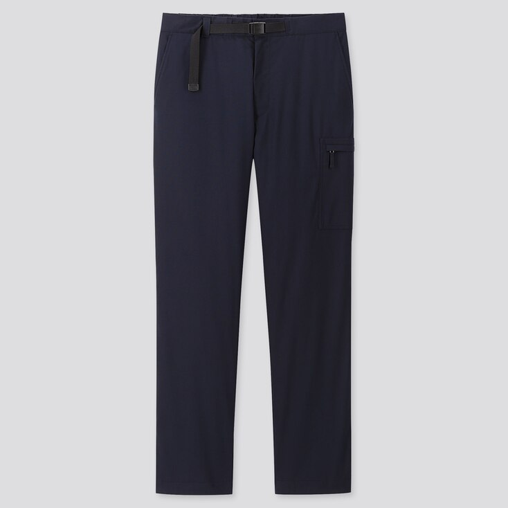 MEN HEATTECH WARM-LINED PANTS (ONLINE EXCLUSIVE), NAVY, large