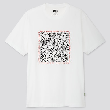 HERREN UT BEDRUCKTES T-SHIRT KEITH HARING PARTY OF LIFE