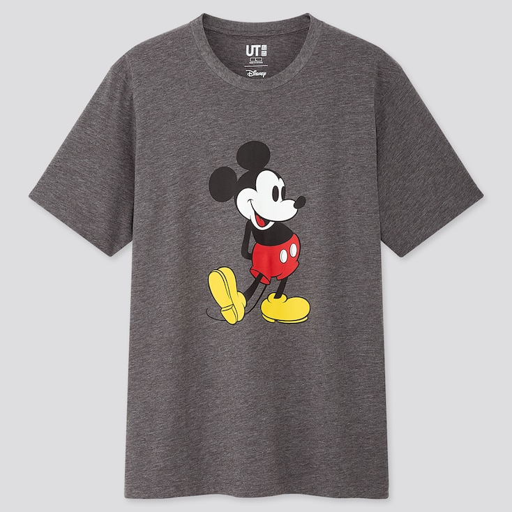 Mickey Stands Ut (short-sleeve Graphic T-shirt), Gray, Large