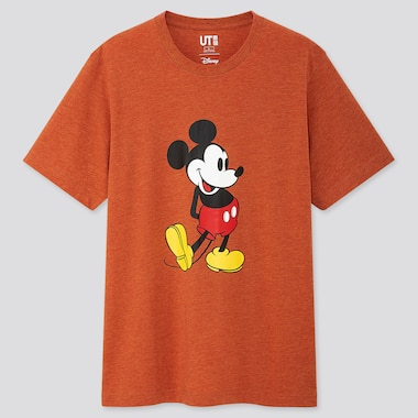 Mickey Stands Ut (Short-Sleeve Graphic T-Shirt), Orange, Medium