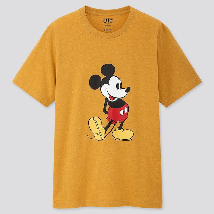 MICKEY STANDS UT (SHORT-SLEEVE GRAPHIC T-SHIRT), YELLOW, large