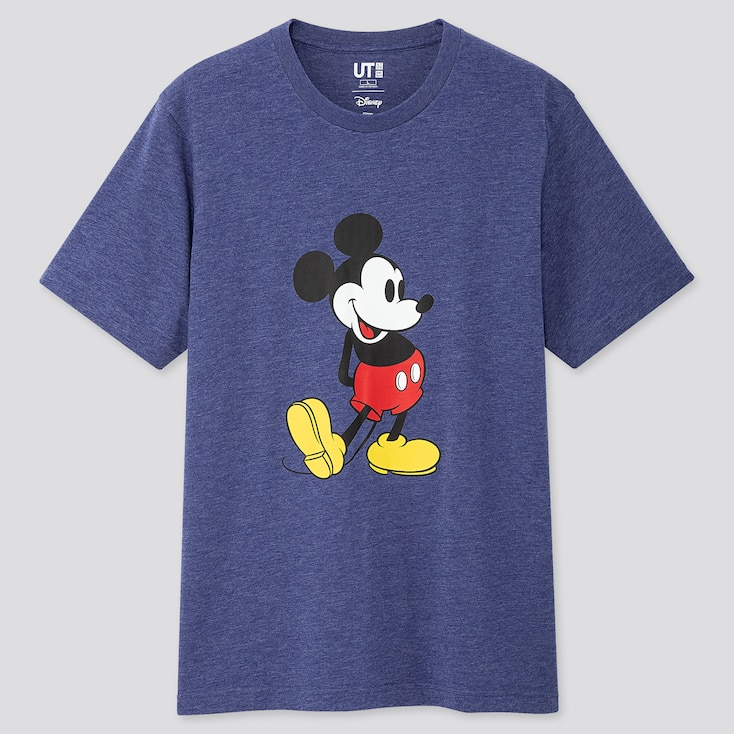 MICKEY STANDS UT (SHORT-SLEEVE GRAPHIC T-SHIRT), BLUE, large