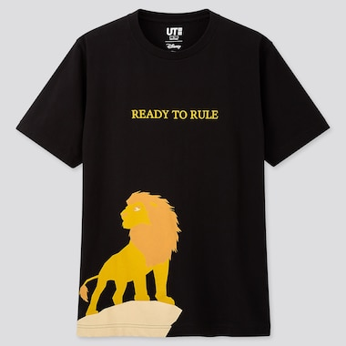 THE LION KING UT (SHORT-SLEEVE GRAPHIC T-SHIRT), BLACK, medium