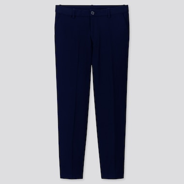 MEN EZY RELAXED FIT ANKLE-LENGTH PANTS, NAVY, medium