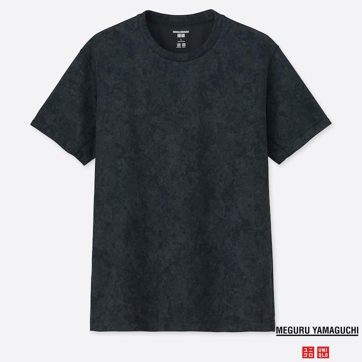 MEN DRY-EX MEGURU YAMAGUCHI CREW NECK SHORT-SLEEVE T-SHIRT, BLACK, large