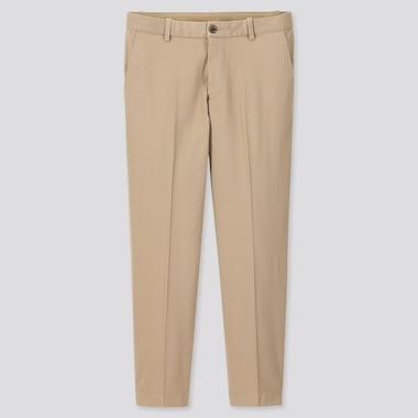 "MEN EZY RELAXED FIT ANKLE-LENGTH PANTS (TALL 31"") (ONLINE EXCLUSIVE), BEIGE, medium"