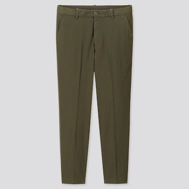 "Men Ezy Relaxed Fit Ankle-Length Pants (Tall 31"") (Online Exclusive), Olive, Medium"