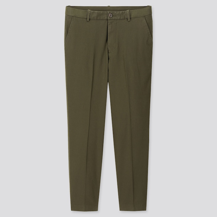 "MEN EZY RELAXED FIT ANKLE-LENGTH PANTS (TALL 31"") (ONLINE EXCLUSIVE), OLIVE, large"