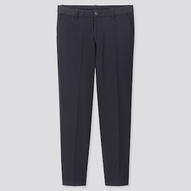 "Men Ezy Relaxed Fit Ankle-Length Pants (Tall 31"") (Online Exclusive), Navy, Medium"