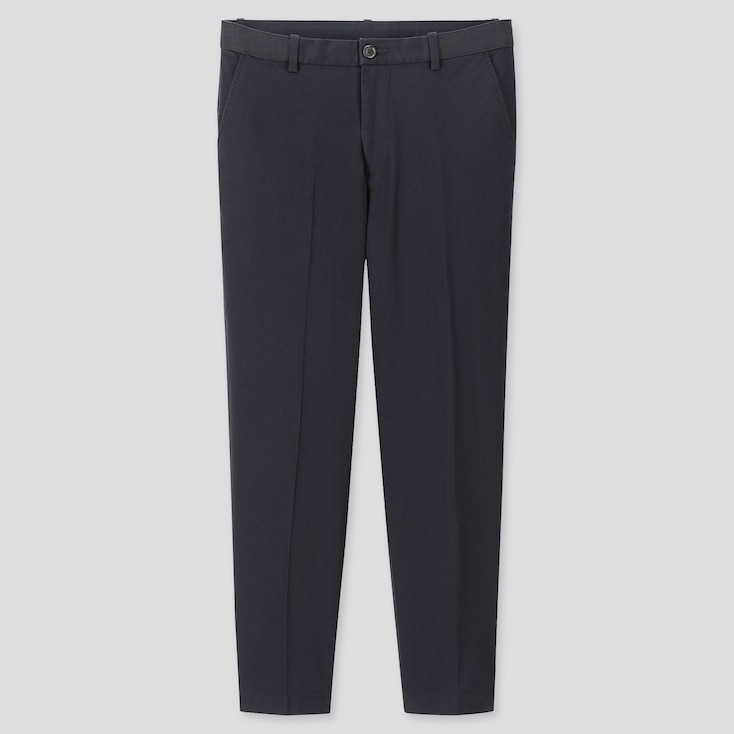 """Men Ezy Relaxed Fit Ankle-Length Pants (Tall 31"""") (Online Exclusive), Navy, Large"""