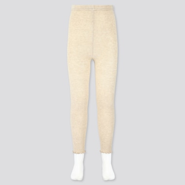 GIRLS RIBBED ANKLE-LENGTH LEGGINGS, BEIGE, medium