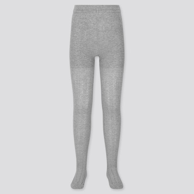 GIRLS KNITTED TIGHTS, GRAY, medium