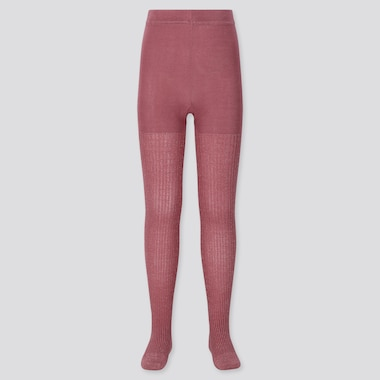 GIRLS KNITTED TIGHTS, PINK, medium