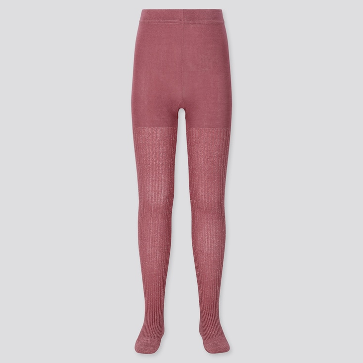GIRLS KNITTED TIGHTS, PINK, large