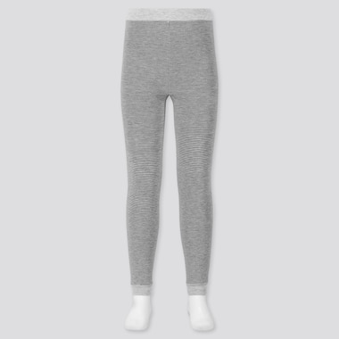 GIRLS HEATTECH EXTRA WARM PILE-LINED LEGGINGS, GRAY, medium