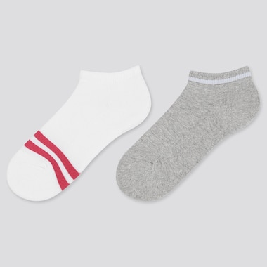 GIRLS SHORT SOCKS (SET OF 2), OFF WHITE, medium