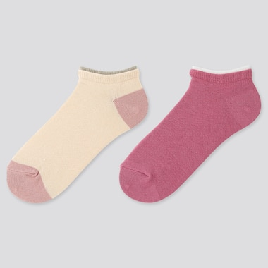 GIRLS SHORT SOCKS (SET OF 2), BEIGE, medium