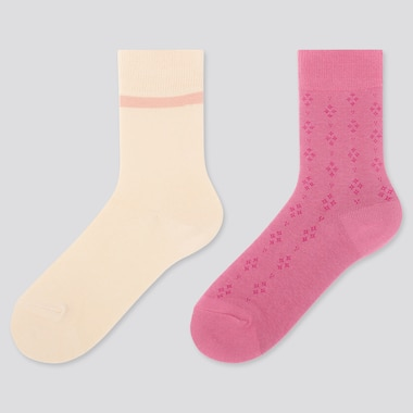 GIRLS REGULAR SOCKS (2 PAIRS), NATURAL, medium