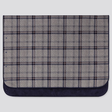 FLEECE BLANKET (PLAID CHECKED), GRAY, medium