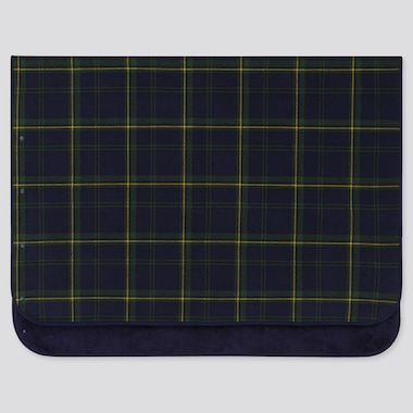 FLEECE BLANKET (PLAID CHECKED), DARK GREEN, medium