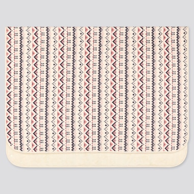 FLEECE BLANKET (FAIR ISLE), OFF WHITE, medium