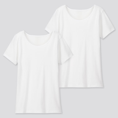 KIDS COTTON INNER SCOOP NECK TOP (TWO PACK)