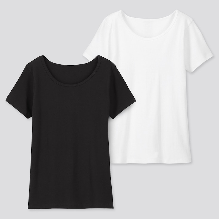 KIDS COTTON INNER SCOOP NECK (SET OF 2), BLACK, large
