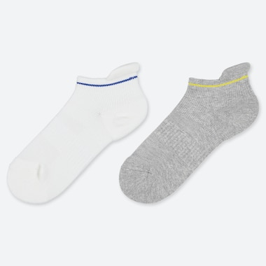 KIDS LINE PRINT ANKLE SOCKS (TWO PAIRS)