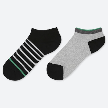 Kids Short Socks (Set Of 2), Green, Medium