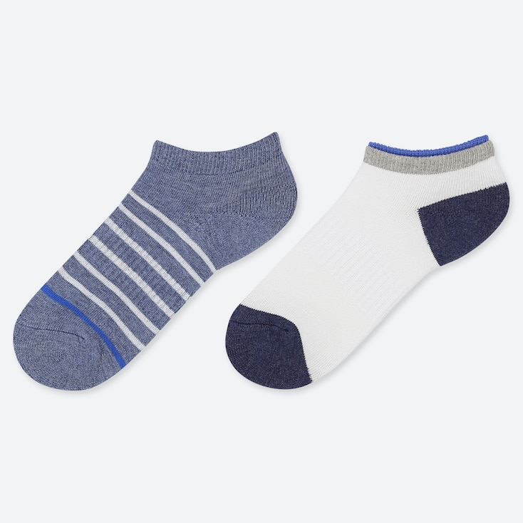 KIDS SHORT SOCKS (SET OF 2), BLUE, large