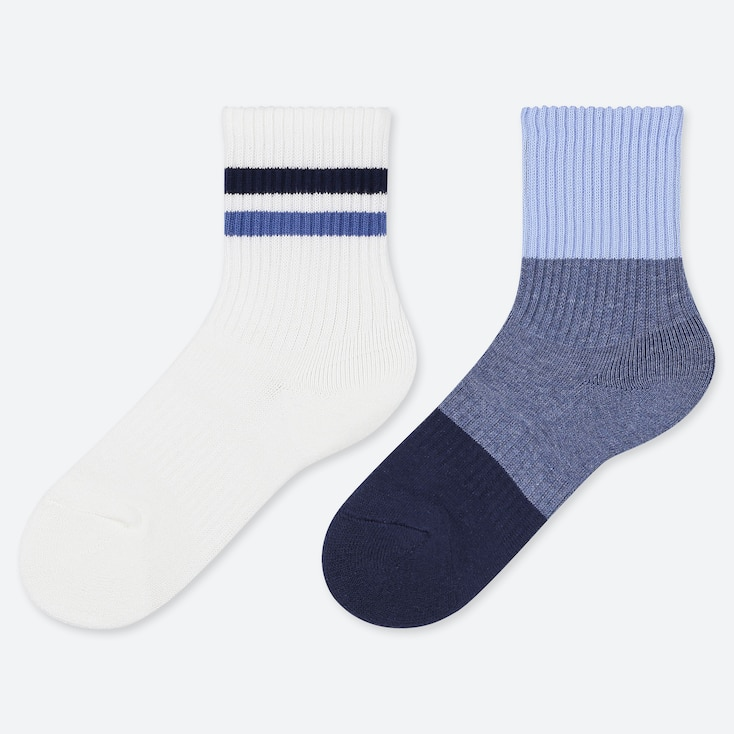 KIDS REGULAR SOCKS (2 PAIRS), OFF WHITE, large