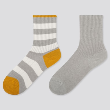 KIDS HEATTECH STRIPED SOCKS (TWO PAIRS)