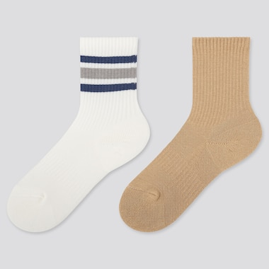 KIDS HEATTECH SOCKS (SET OF 2), OFF WHITE, medium