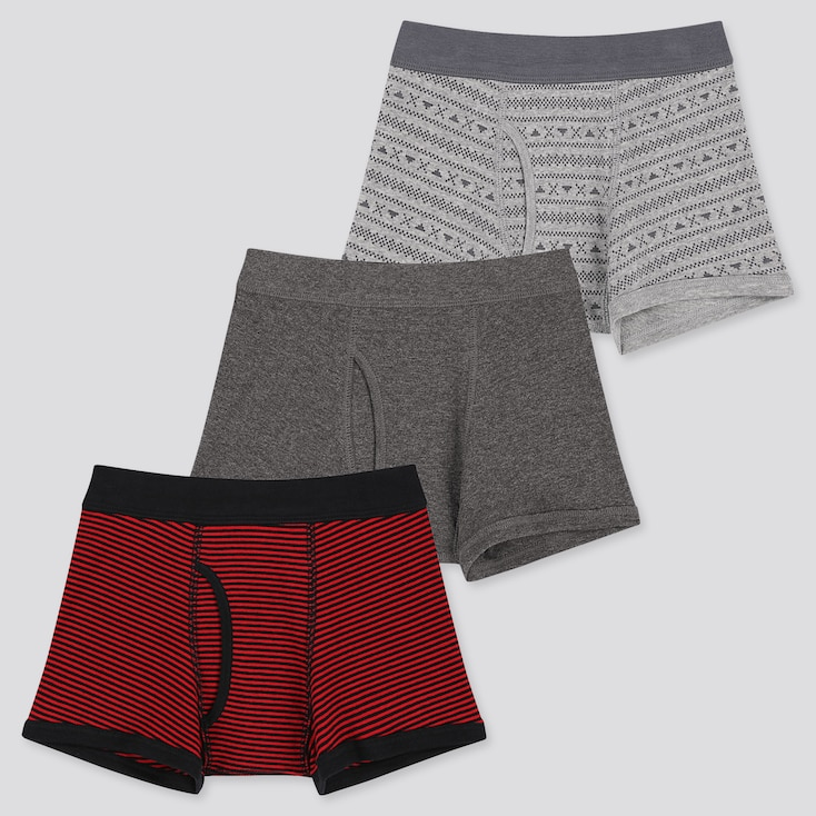 BOYS BOXER BRIEFS (SET OF 3), RED, large
