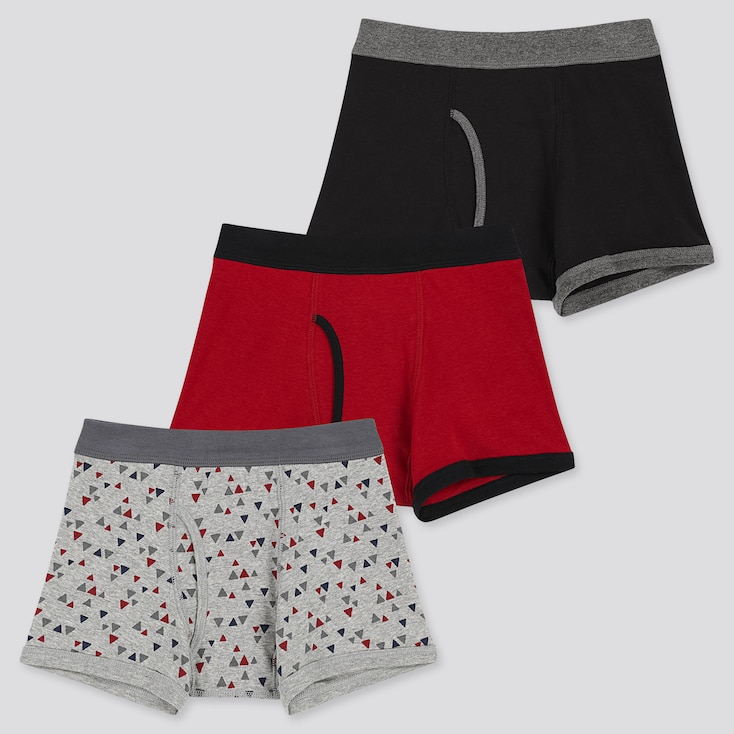 BOYS BOXER BRIEFS (SET OF 3), BLACK, large