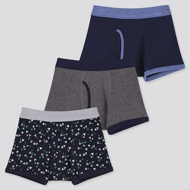 BOYS BOXER BRIEFS (SET OF 3), NAVY, medium