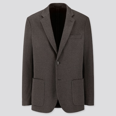 MEN COMFORT JACKET (PATTERN), BROWN, medium