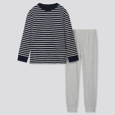 KIDS ULTRA STRETCH STRIPED SWEAT LOUNGE SET