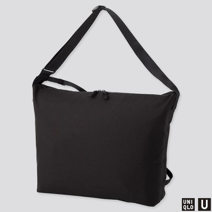 U BLOCKTECH SHOULDER BAG, BLACK, large