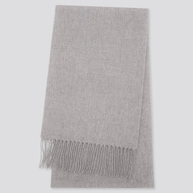 CASHMERE SCARF, LIGHT GRAY, medium