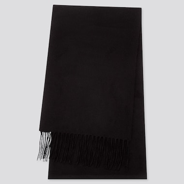 CASHMERE SCARF, BLACK, medium
