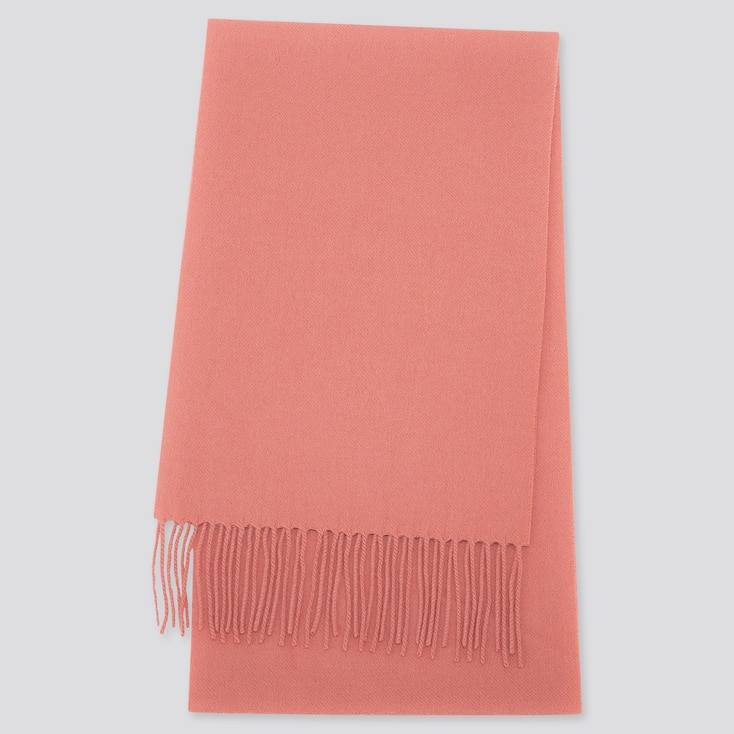 CASHMERE SCARF, PINK, large