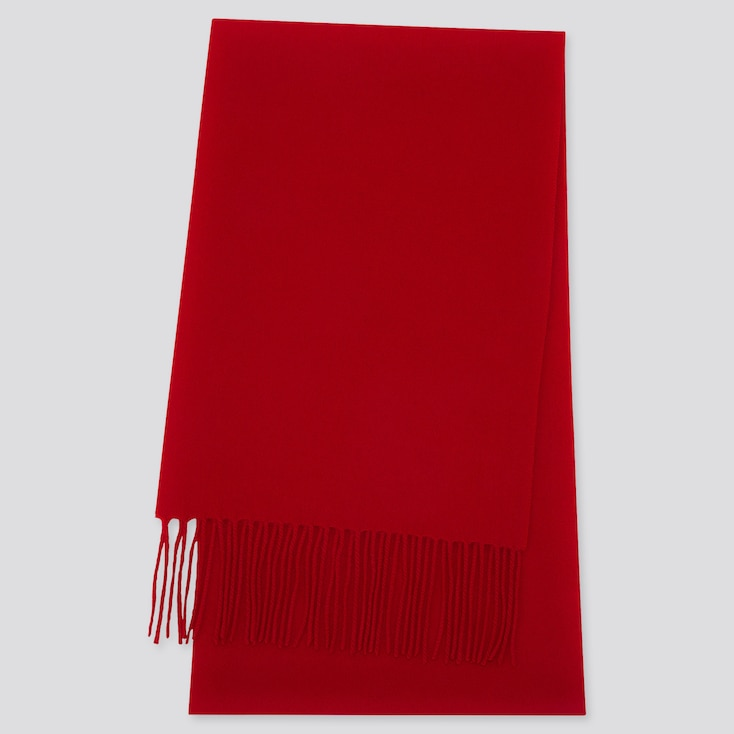 CASHMERE SCARF, RED, large