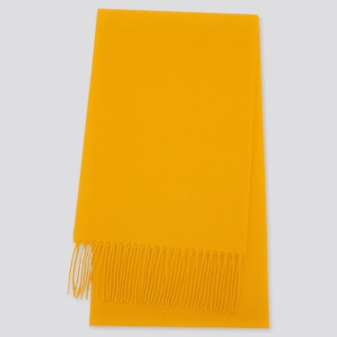 CASHMERE SCARF, YELLOW, medium