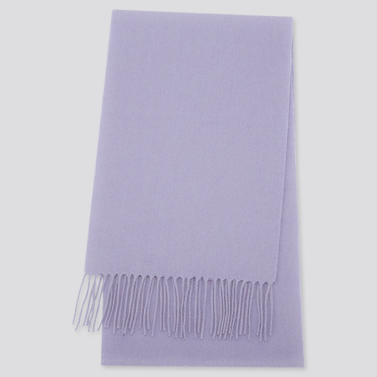 CASHMERE SCARF, PURPLE, large