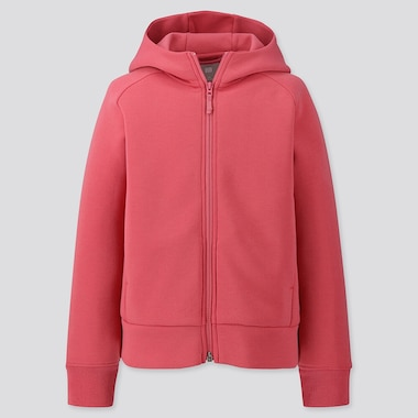 Kids Dry Stretch Sweat Long-Sleeve Full-Zip Hoodie, Pink, Medium